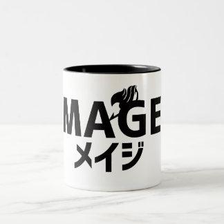 妖精の尾Mageのタイポグラフィのマグ ツートーンマグカップ
