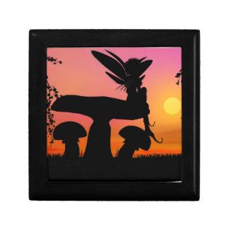 妖精の日没の宝石類の装身具の記念品箱の黒 ギフトボックス
