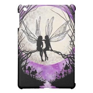 妖精の月のシルエットのiPadの場合-たそがれ iPad Miniカバー
