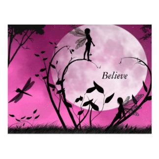 妖精の月の郵便はがきを信じて下さい ポストカード