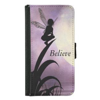 妖精の月光はiPhoneおよび銀河系の財布を信じます Galaxy S5 ウォレットケース