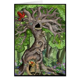 妖精の木の家 グリーティングカード