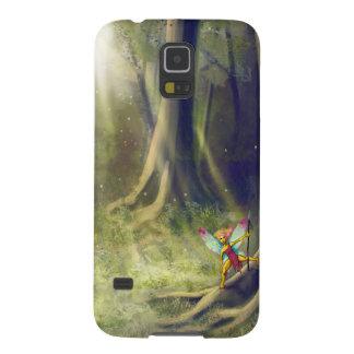妖精の木製の銀河系 GALAXY S5 ケース
