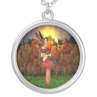 妖精の林間の空地-ネックレス シルバープレートネックレス