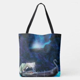 妖精の洞窟の景色のファンタジーのデジタル芸術 トートバッグ
