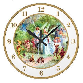妖精の王子へのThumbelinaの結婚 ラージ壁時計