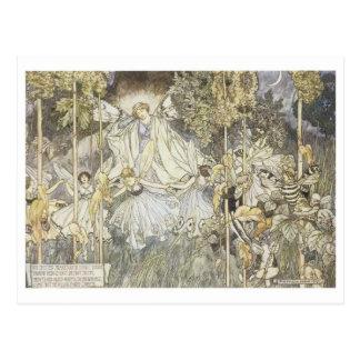 妖精の真夏の夜の夢1907年 ポストカード