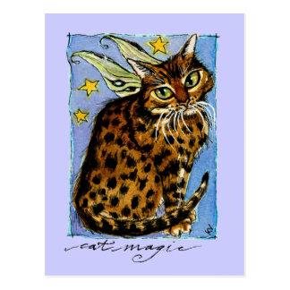 妖精の翼との猫魔法のOcicat ポストカード