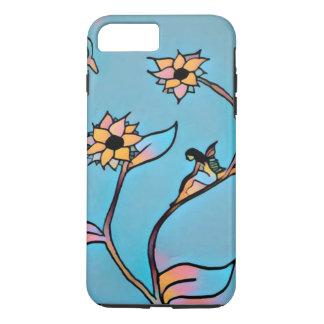 妖精の花のiPhone 7の場合(青い) iPhone 8 Plus/7 Plusケース