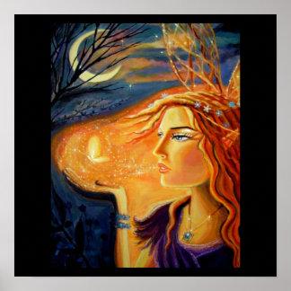妖精の芸術のプリント-森林の精神 ポスター