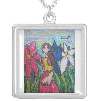 妖精の芸術 シルバープレートネックレス