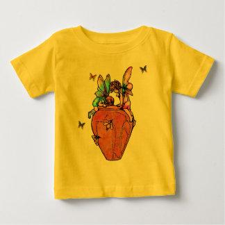 妖精の蜂蜜のポットのTシャツ ベビーTシャツ