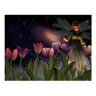妖精夜郵便はがき ポストカード