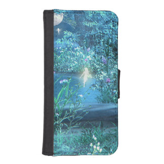 妖精夜iPhoneおよび銀河系のウォレットケース iPhoneSE/5/5sウォレットケース