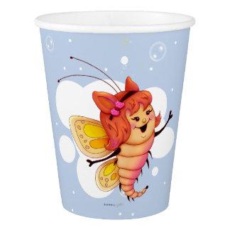 妖精1のかわいい蝶外国の漫画の紙コップ 紙コップ