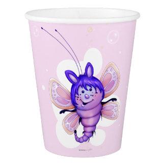 妖精3のかわいい蝶外国の漫画の紙コップ 紙コップ