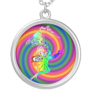 妖精 シルバープレートネックレス