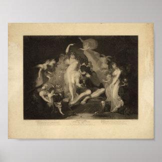 妖精、ヴィンテージ1796年の女王 ポスター