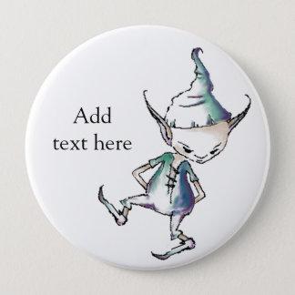 妖精/小悪魔ボタンはちょうど文字を所有するために加えます 10.2CM 丸型バッジ