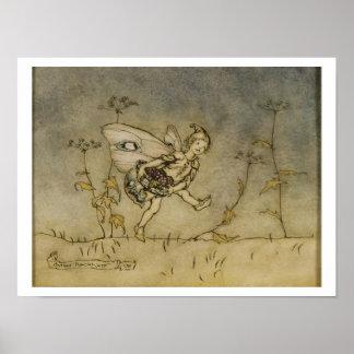 妖精、「真夏の夜のDreaからのイラストレーション ポスター