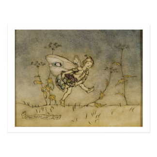 妖精、「真夏の夜のDreaからのイラストレーション ポストカード
