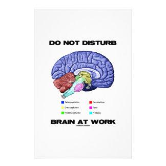 妨げないで下さい仕事(解剖ユーモア)で頭脳を 便箋