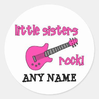 妹の石! ピンクのギターを使って ラウンドシール