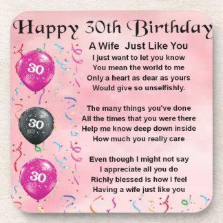 妻の詩-第30誕生日 コースター