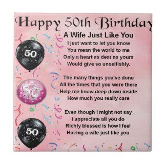妻の詩-第50誕生日 タイル