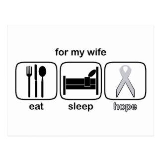 妻は睡眠の希望-肺癌--を食べます ポストカード