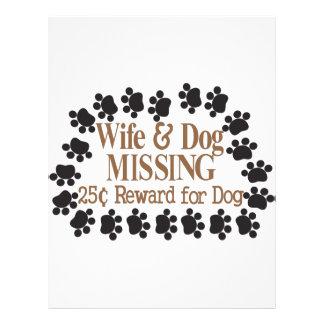 妻及び犬の行方不明 レターヘッド