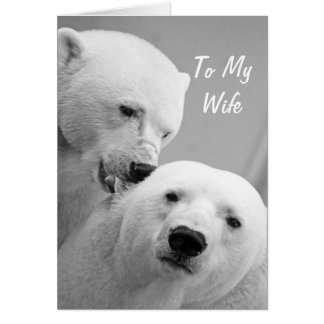 妻記念日カードへの白くまの夫 カード