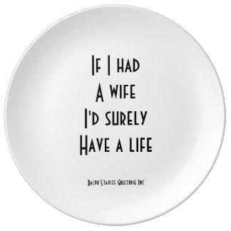妻 磁器プレート