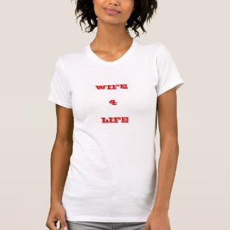 妻               4の            生命 Tシャツ