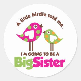 姉があることを行く小鳥 ラウンドシール