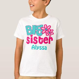 姉のピンクのティール(緑がかった色)の名前入りなワイシャツ Tシャツ
