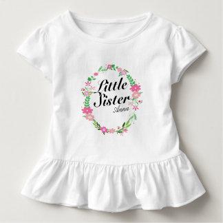 姉の花模様のリースの名前 トドラーTシャツ