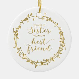 姉妹および親友のオーナメント セラミックオーナメント