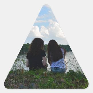 姉妹か友人 三角形シール