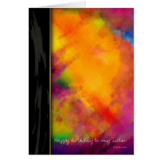 姉妹のための紫色の色彩の鮮やかなバースデー・カードのTouch カード