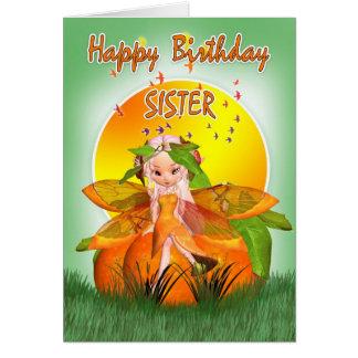 姉妹のバースデー・カード- Mooniesの柑橘類の妖精 カード
