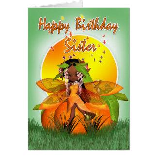 姉妹のバースデー・カード- Mooniesの柑橘類の妖精- Afri カード