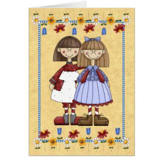 姉妹の友情のバースデー・カード カード