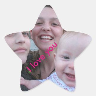 姉妹の星のステッカー 星シール