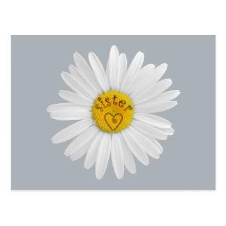 姉妹の芸術のためのデイジーの花は背景をカスタマイズ ポストカード