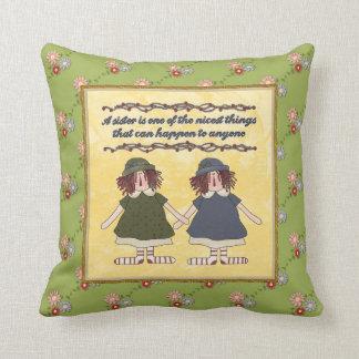 姉妹の詩の枕 クッション