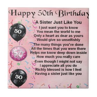 姉妹の詩-第50誕生日のデザイン タイル
