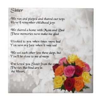 姉妹の詩-花 タイル