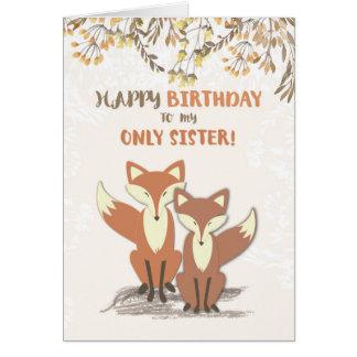 姉妹の誕生日だけ、枝の葉孤色に変色します カード