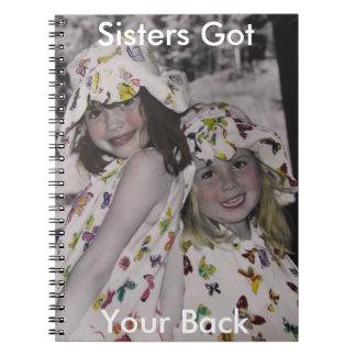 姉妹はあなたの背部ノートを得ました ノートブック